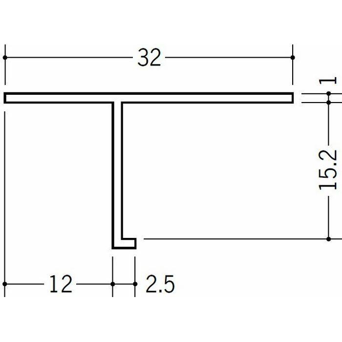 目透かし型見切縁 ビニール 見切 T-15 ホワイト 1.82m  34053