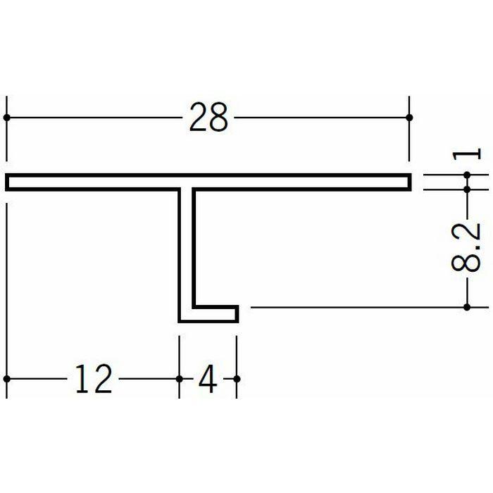 目透かし型見切縁 ビニール 見切 TVC-8 ホワイト 2m  34186