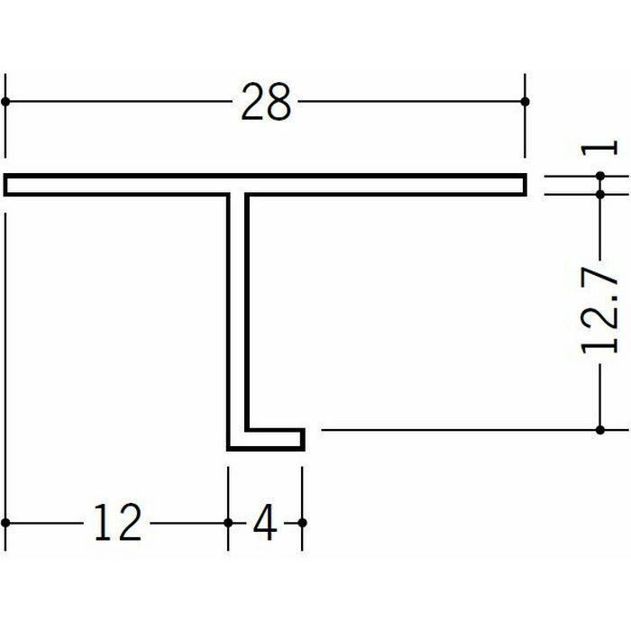 目透かし型見切縁 ビニール 見切 TVC-12 ホワイト 2m  34188