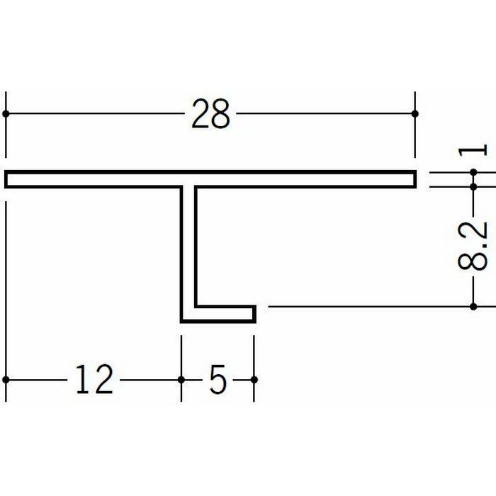 目透かし型見切縁 ビニール 見切 TVF-8 ホワイト 2m  33142