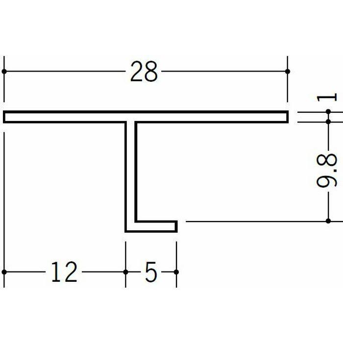 目透かし型見切縁 ビニール 見切 TVF-9 ホワイト 2m  33143