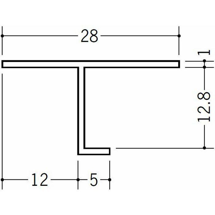 目透かし型見切縁 ビニール 見切 TVF-12 ホワイト 2m  33144