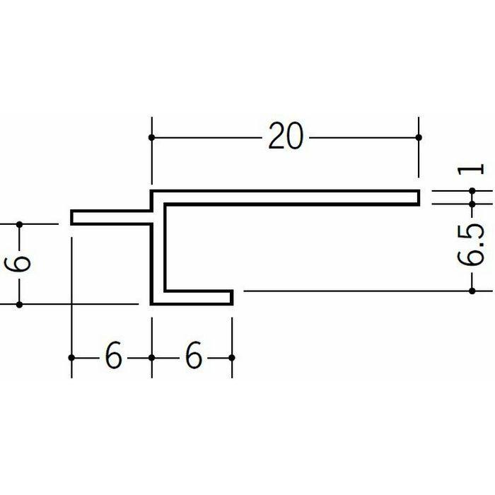 目透かし型見切縁 ビニール 見切 BVC-7 ホワイト 2m  33180