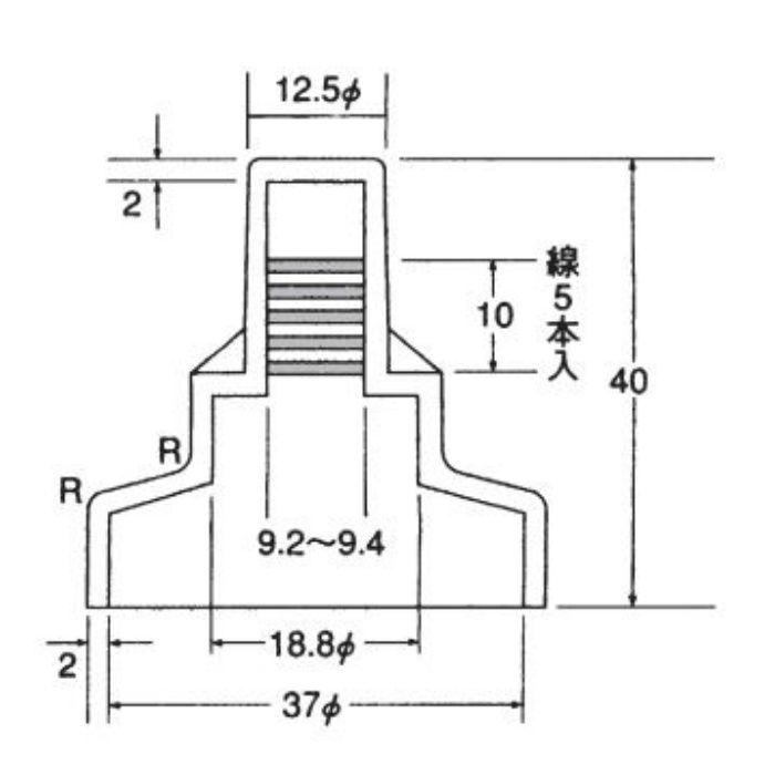 サビヤーズ 折版屋根用 インチ専用(10mm用) ブラウン 長さ40mm 150個/小箱