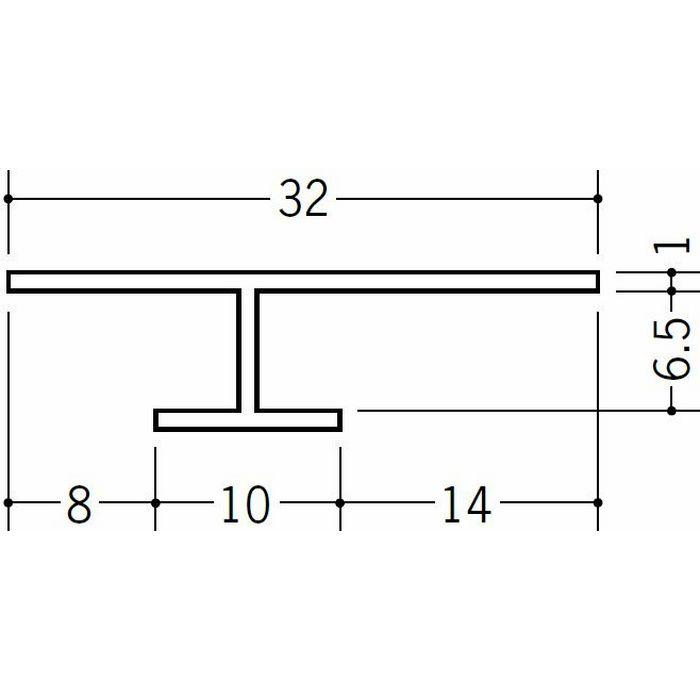 目透かし型見切縁 ビニール 見切 CVC-6 ホワイト 2m  31031