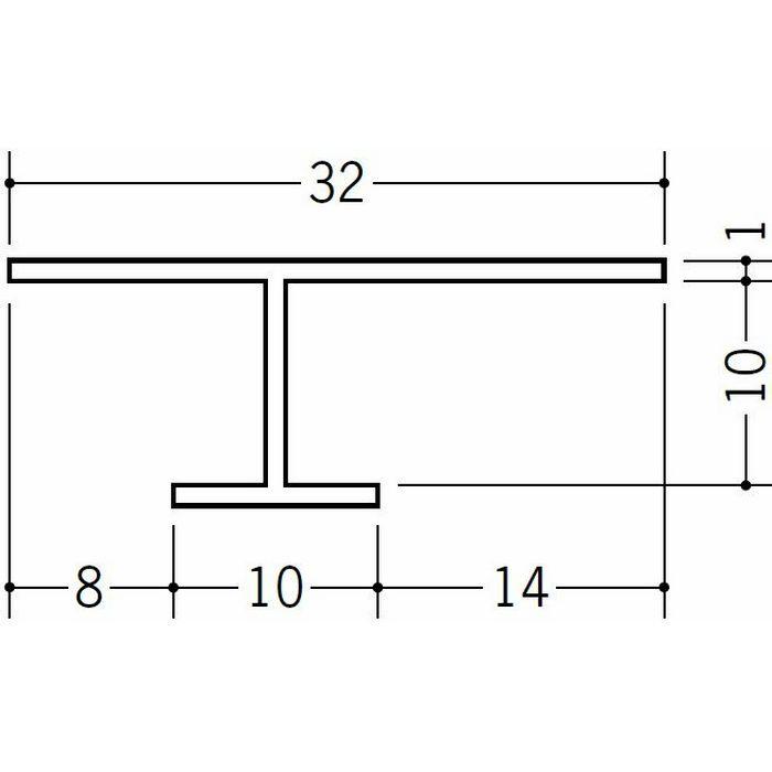 目透かし型見切縁 ビニール 見切 CVC-9 ホワイト 2m  31033