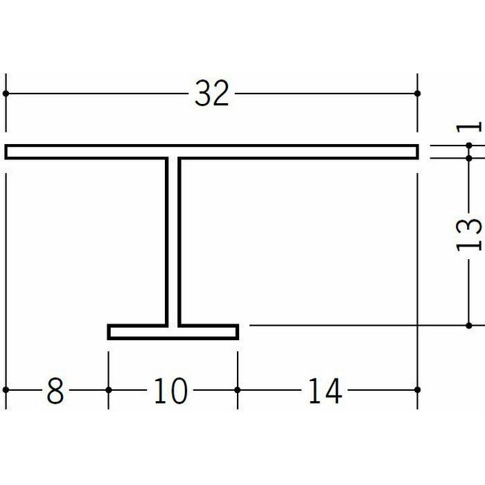 目透かし型見切縁 ビニール 見切 CVC-12 ホワイト 2m  31034
