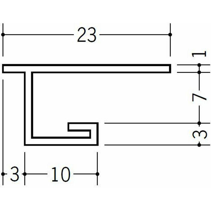 目透かし型見切縁 ビニール 見切 FMC-7 ホワイト 1.82m  33201
