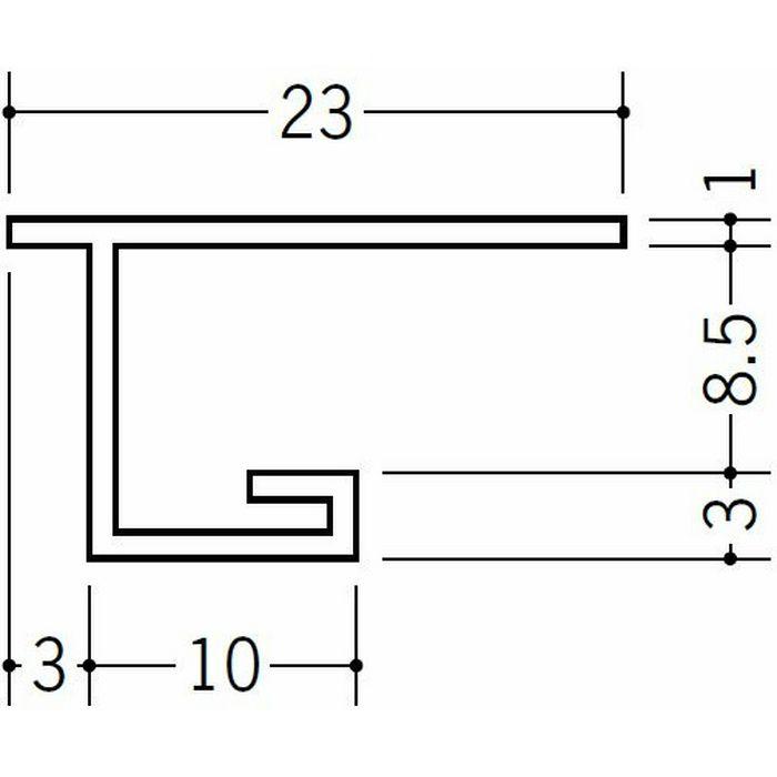 目透かし型見切縁 ビニール 見切 FMC-8 ホワイト 1.82m  33224