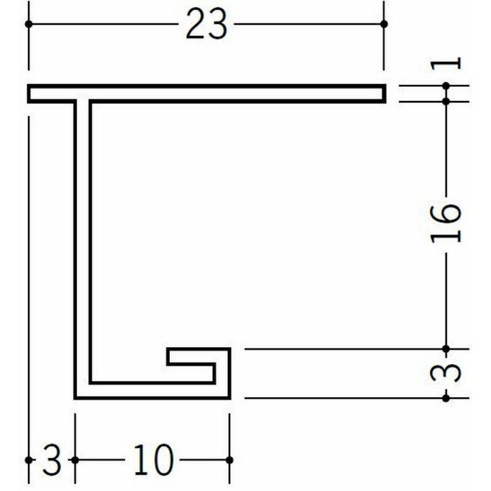 目透かし型見切縁 ビニール 見切 FMC-16 ホワイト 1.82m  33204