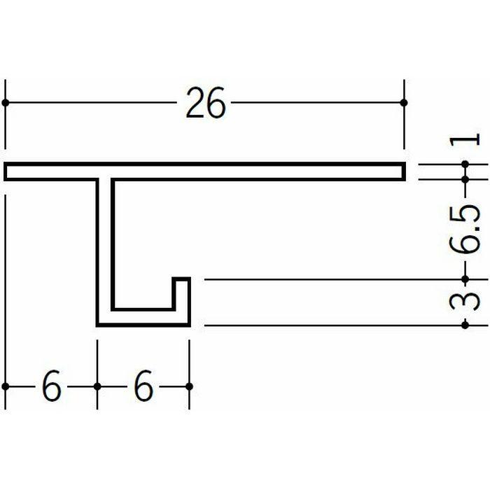 目透かし型見切縁 ビニール 見切 CM-7 ホワイト 1.82m  33093