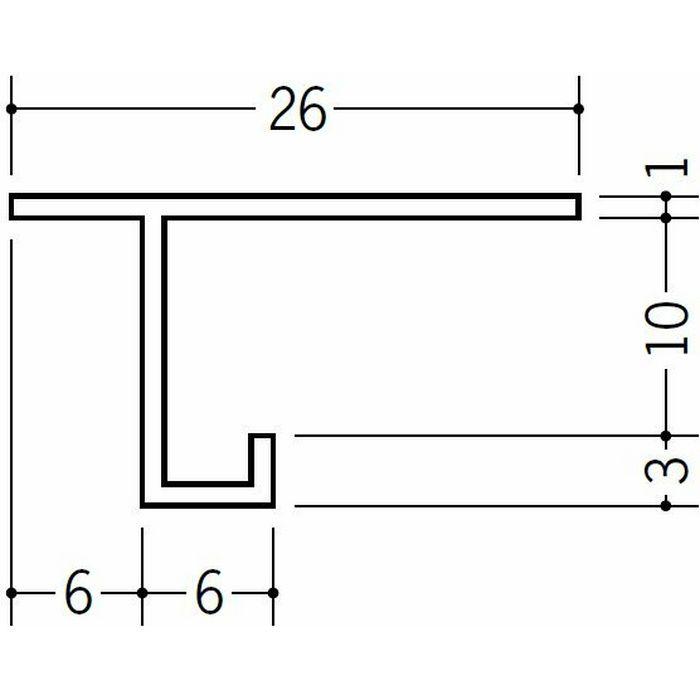 目透かし型見切縁 ビニール 見切 CM-10 ホワイト 1.82m  33091