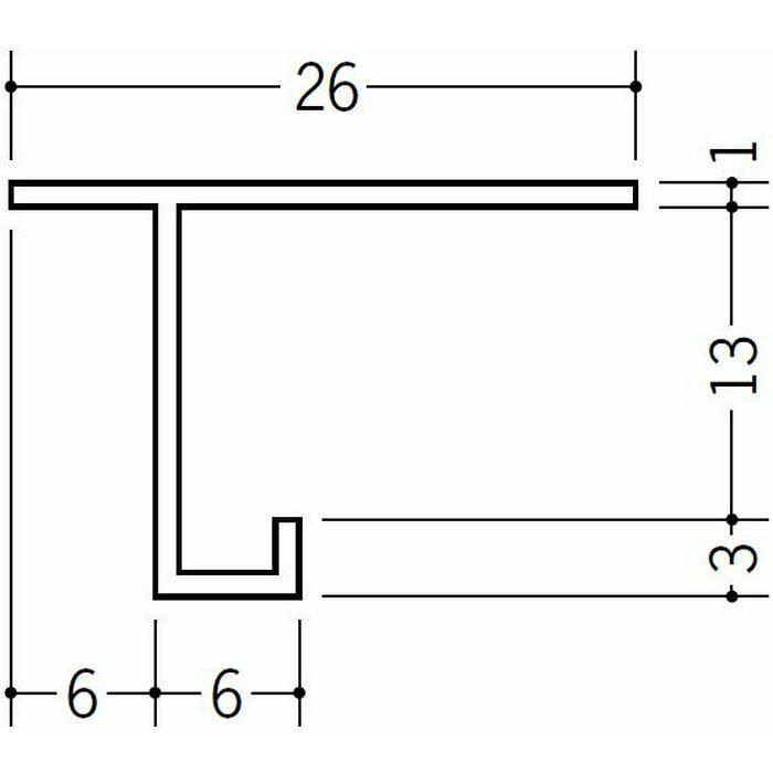 目透かし型見切縁 ビニール 見切 CM-13 ホワイト 1.82m  33092