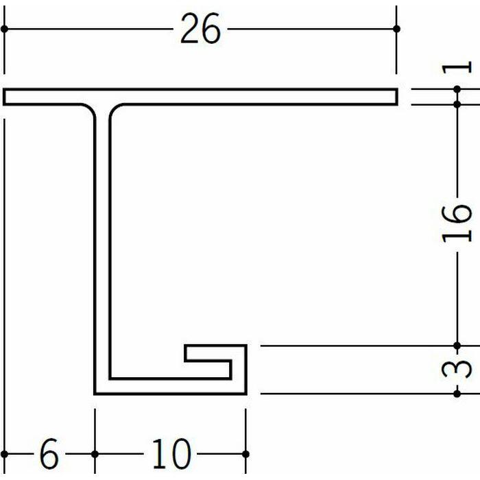 目透かし型見切縁 ビニール 見切 VC-15 ホワイト 1.82m  33282