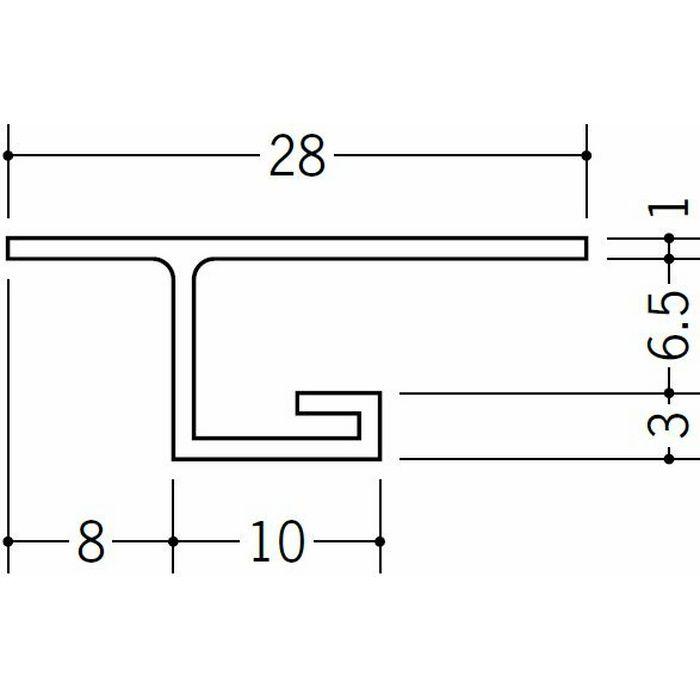 目透かし型見切縁 ビニール 見切 VB-6.5 ホワイト 2m  33408