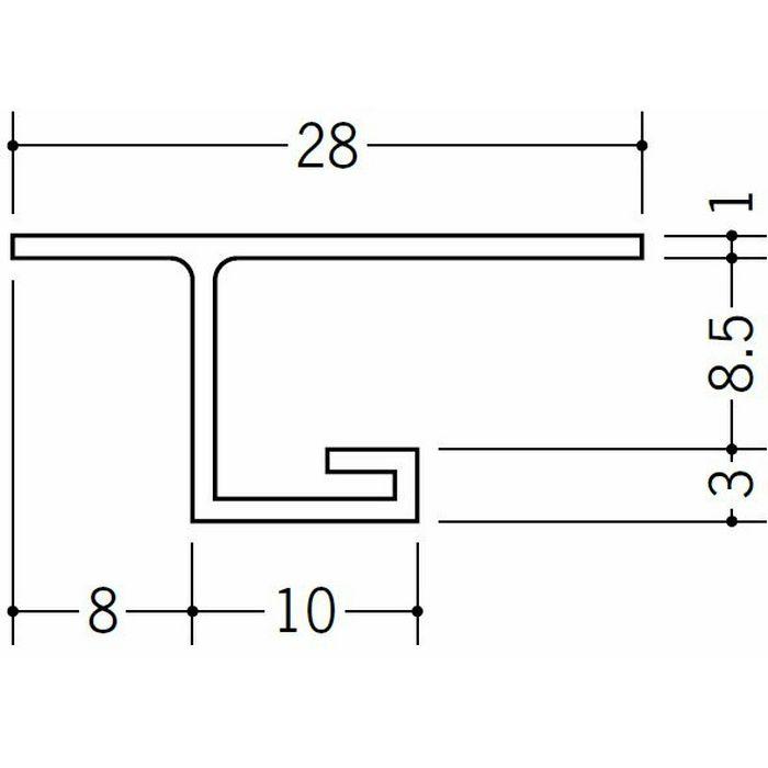 目透かし型見切縁 ビニール 見切 VB-8.5 ホワイト 2m  33409