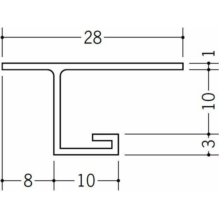 目透かし型見切縁 ビニール 見切 VB-10 ホワイト 2m  33410