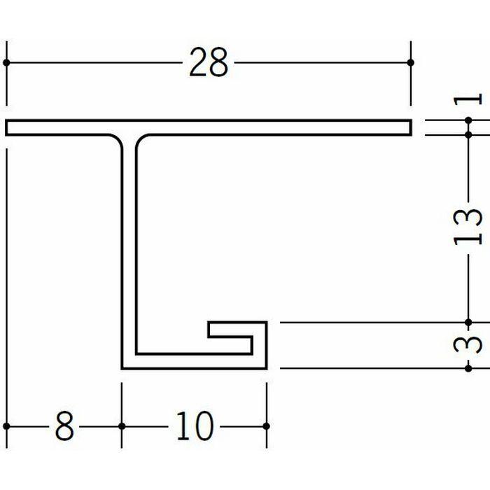 目透かし型見切縁 ビニール 見切 VB-13 ホワイト 2m  33411