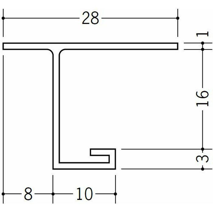目透かし型見切縁 ビニール 見切 VB-16 ホワイト 2m  33412