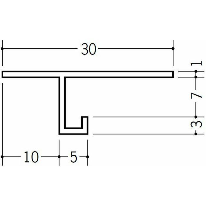 目透かし型見切縁 ビニール 見切 MTS-7 ホワイト 2m  33138