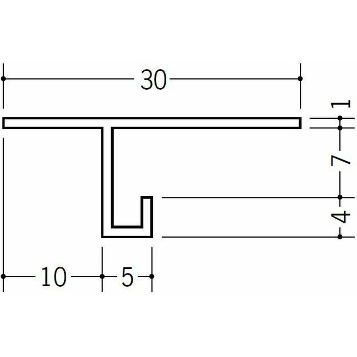 目透かし型見切縁 ビニール 見切 M-6 ホワイト 1.82m  33022