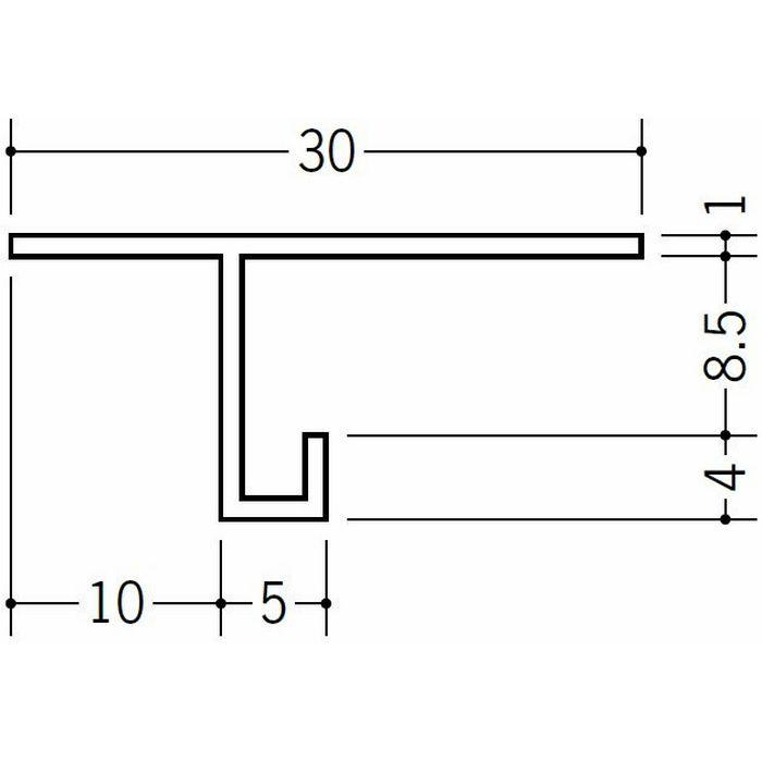 目透かし型見切縁 ビニール 見切 M-8 ホワイト 1.82m  33240