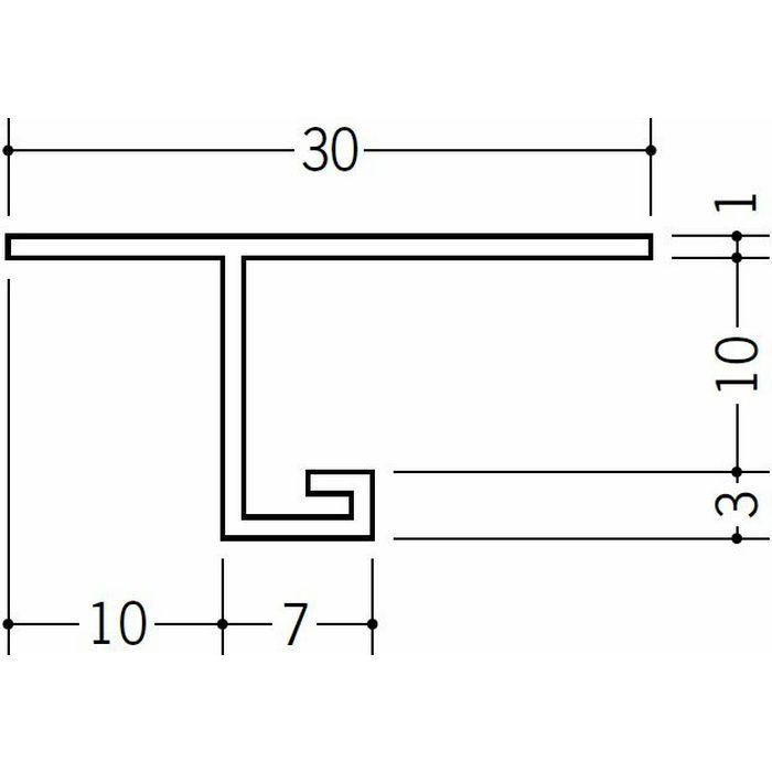 目透かし型見切縁 ビニール 見切 ML-9 ホワイト 2m  33148