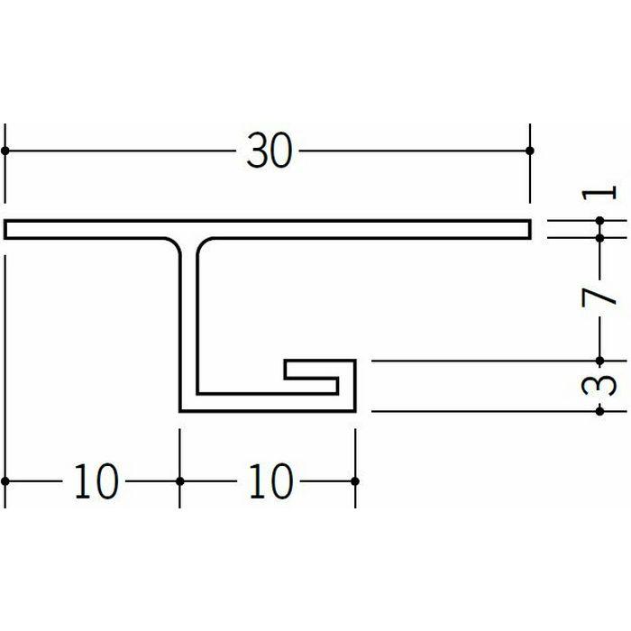 目透かし型見切縁 ビニール 見切 VC-106 ホワイト 2m  33121