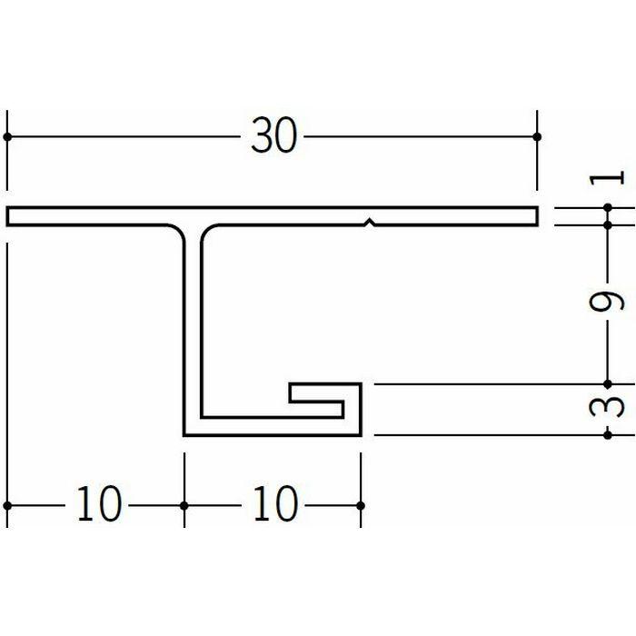 目透かし型見切縁 ビニール 見切 VC-108 ホワイト 2m  33122