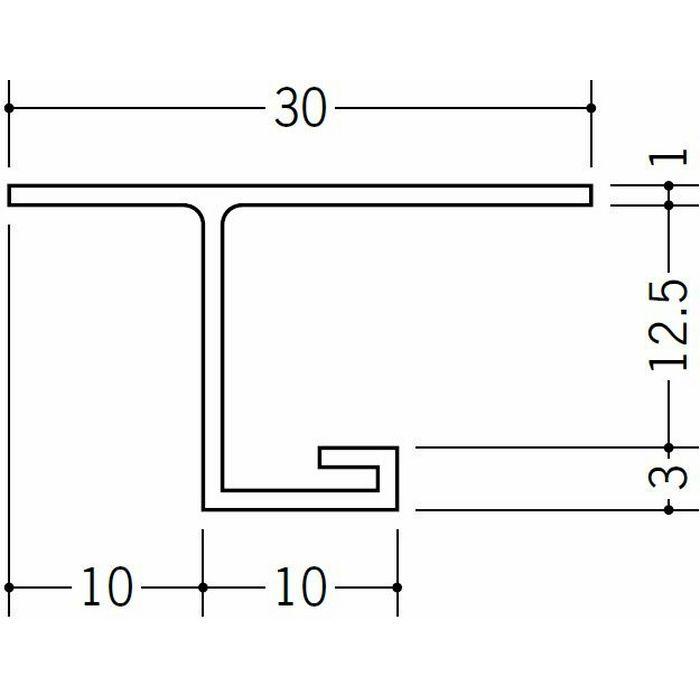 目透かし型見切縁 ビニール 見切 VC-岩綿12 ホワイト 2m  33526