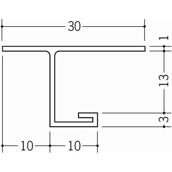 目透かし型見切縁 ビニール 見切 VC-1012 ホワイト 2m  33124