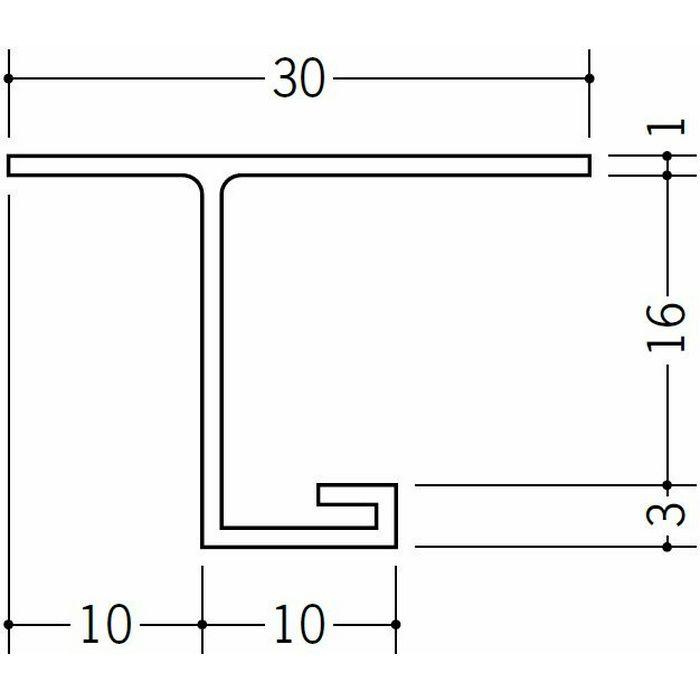 目透かし型見切縁 ビニール 見切 VC-1015 ホワイト 2m  33125