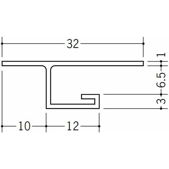 目透かし型見切縁 ビニール 見切 MVT-6 ホワイト 2m  34195