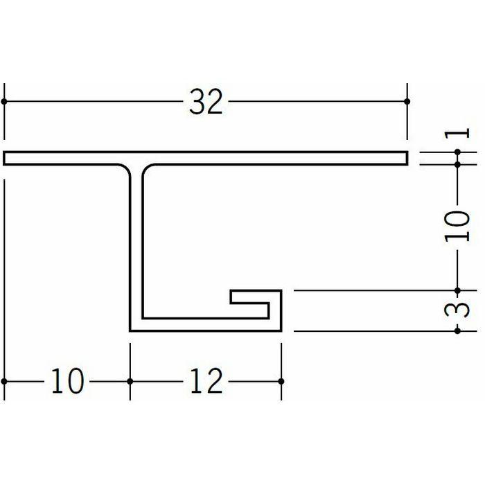 目透かし型見切縁 ビニール 見切 MVT-9 ホワイト 2m  34197