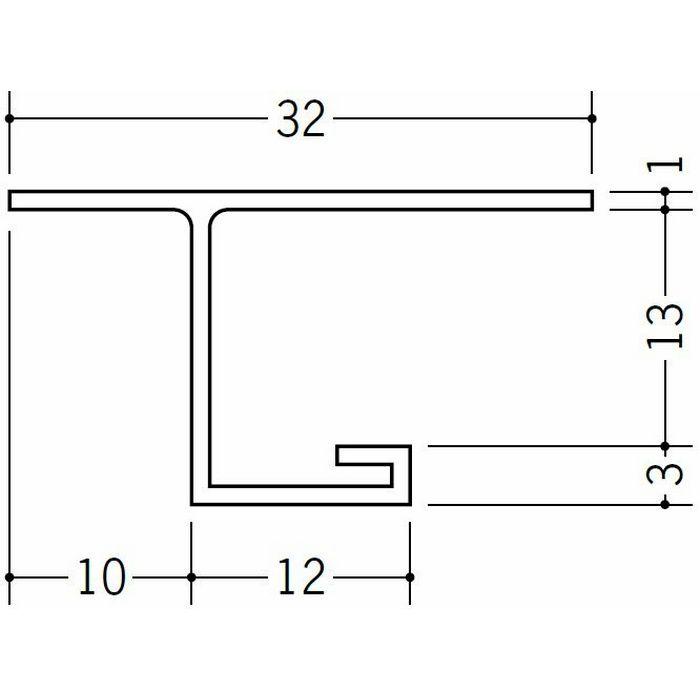 目透かし型見切縁 ビニール 見切 MVT-12 ホワイト 2m  34198