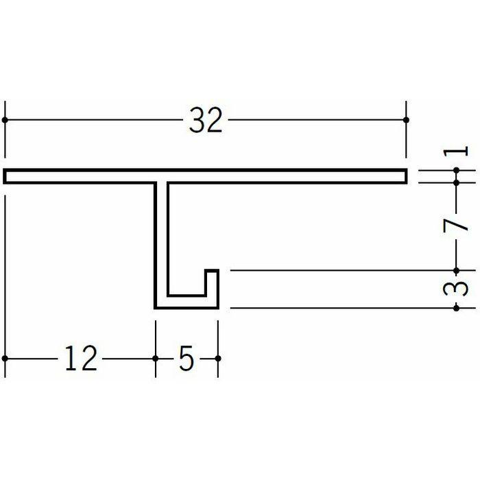 目透かし型見切縁 ビニール 見切 TM-7 ホワイト 2m  33706