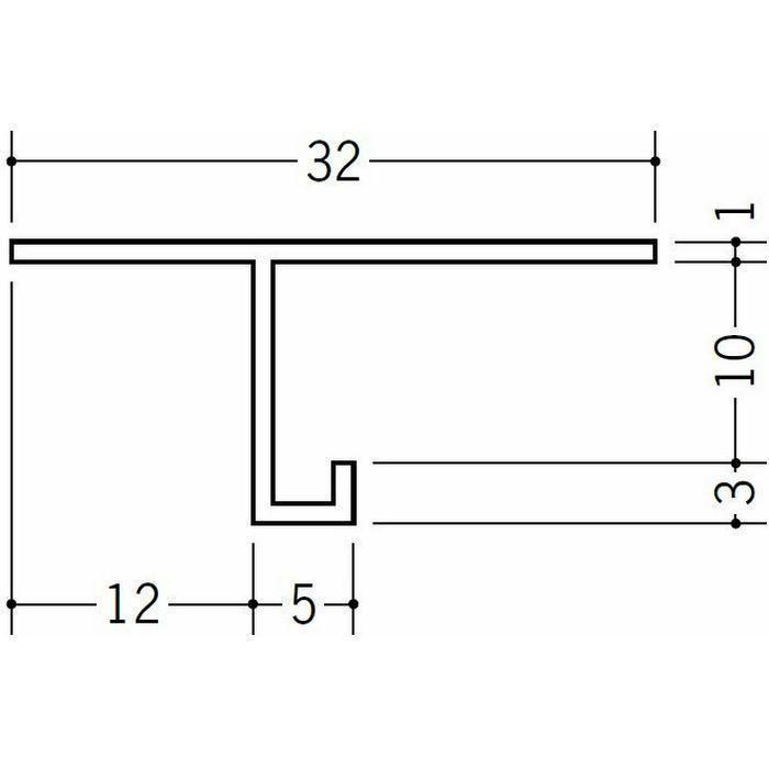 目透かし型見切縁 ビニール 見切 TM-10 ホワイト 2m  33707