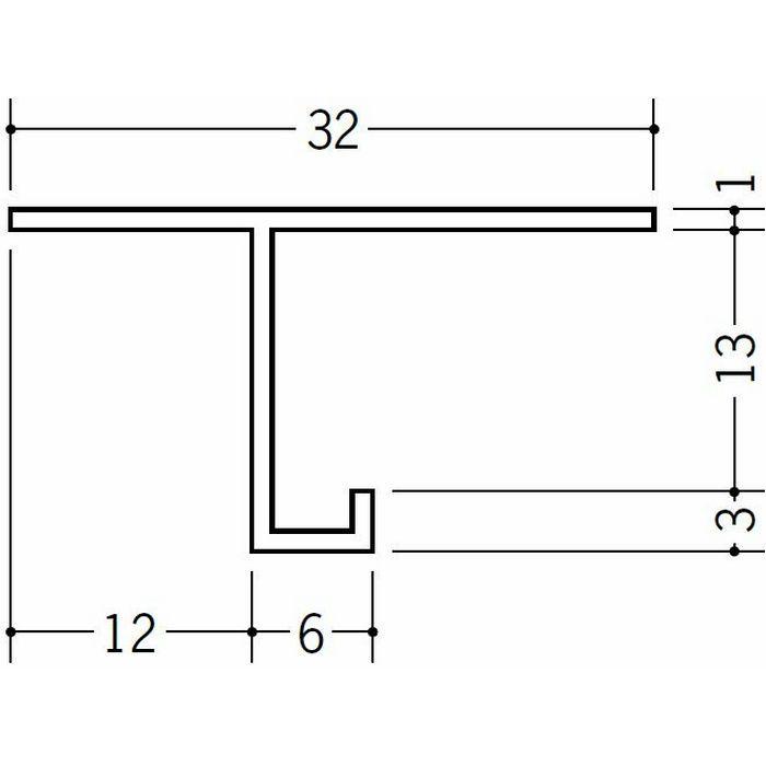 目透かし型見切縁 ビニール 見切 VTM-13 ホワイト 2m  31102
