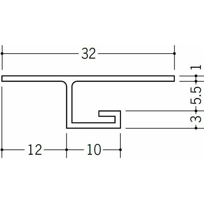 目透かし型見切縁 ビニール 見切 V-5 ホワイト 1.82m  33052