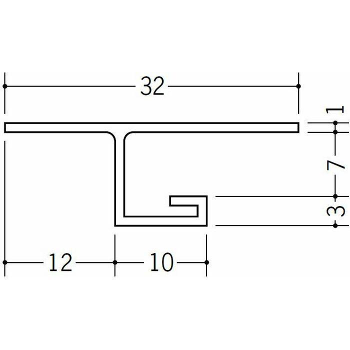 目透かし型見切縁 ビニール 見切 V-6 ホワイト 1.82m  33053