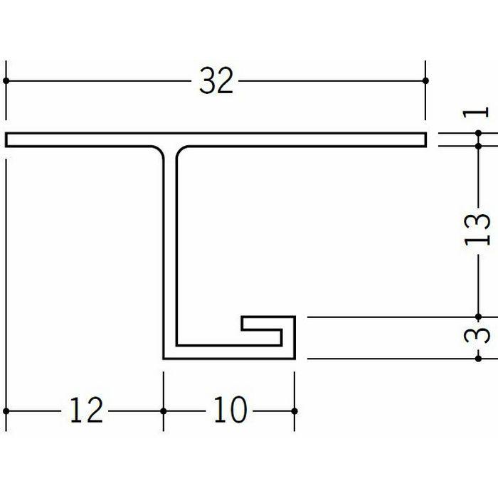 目透かし型見切縁 ビニール 見切 V-12 ホワイト 1.82m  33055