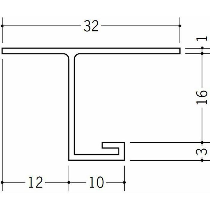 目透かし型見切縁 ビニール 見切 V-15.5 ホワイト 1.82m  33107