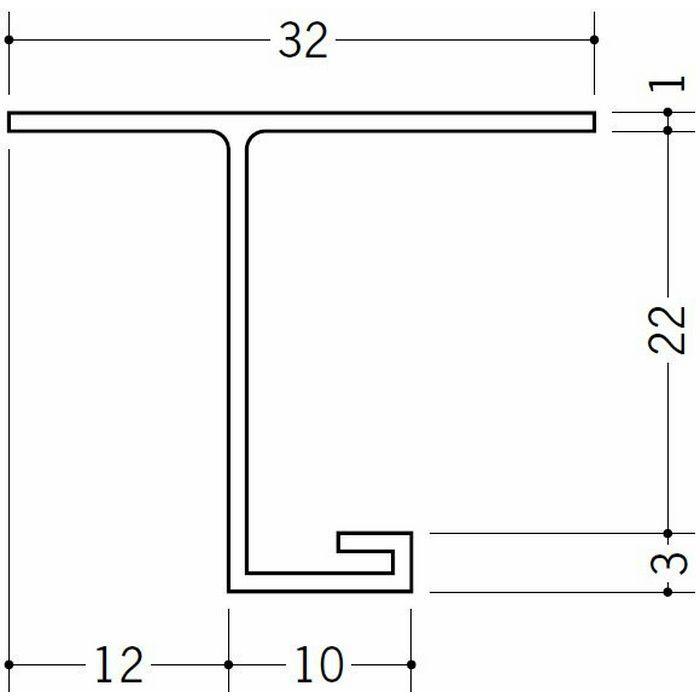 目透かし型見切縁 ビニール 見切 V-21.5 ホワイト 1.82m  33109