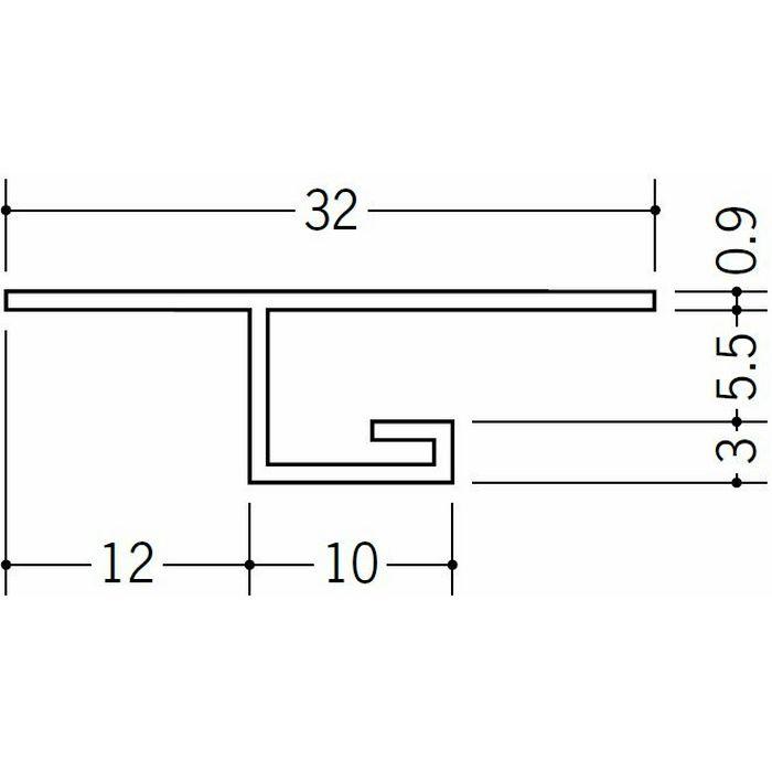 目透かし型見切縁 ビニール 見切 V3-5 ホワイト 1.82m  33029