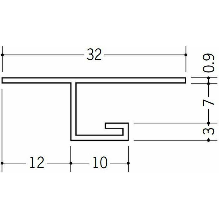 目透かし型見切縁 ビニール 見切 V3-6 ホワイト 1.82m  33078