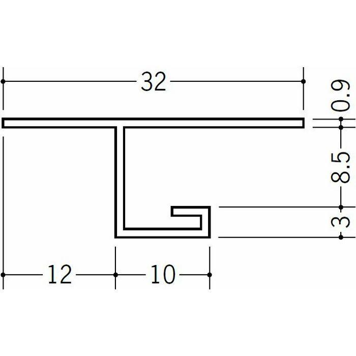 目透かし型見切縁 ビニール 見切 V3-8 ホワイト 1.82m  32047