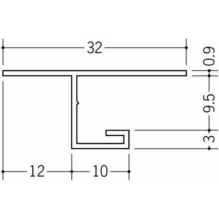 目透かし型見切縁 ビニール 見切 V3-9.5(岩綿板用) ホワイト 1.82m  32048