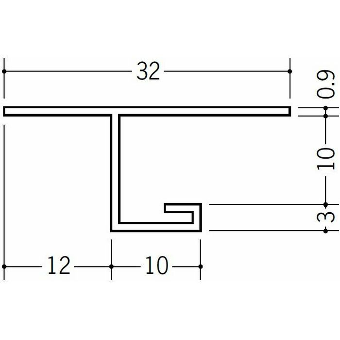 目透かし型見切縁 ビニール V3-9出隅15R 1/4円 ホワイト   33079015