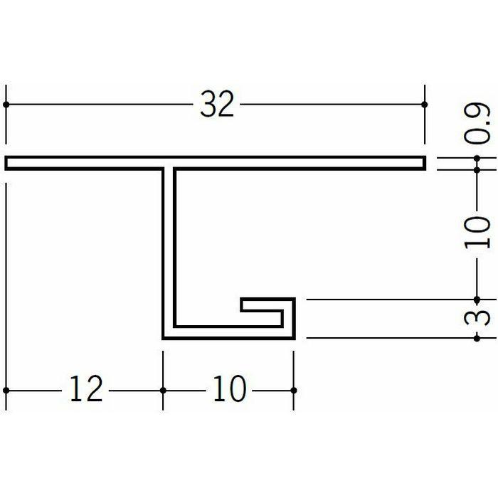 目透かし型見切縁 ビニール V3-9出隅25R 1/4円 ホワイト   33079025