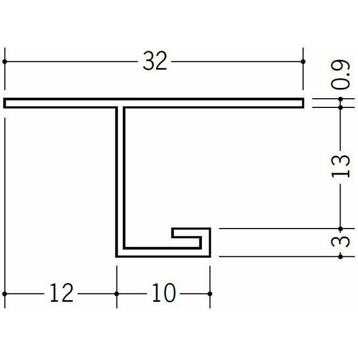 目透かし型見切縁 ビニール V3-12出隅30R 1/4円 ホワイト   33080030